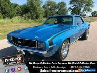 1969 Chevrolet Camaro RSSS 327 Auto, AC, Metallic Blue, Fully Restored
