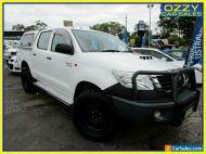 2012 Toyota Hilux KUN26R MY12 SR (4x4) Glacier White Manual 5sp M