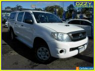 2010 Toyota Hilux KUN26R 09 Upgrade SR (4x4) White Manual 5sp M