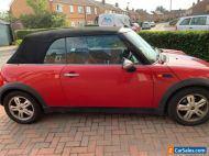 Red mini one 1.6l convertible