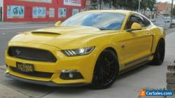 2016 Ford Mustang FM MY17 Fastback GT 5.0 V8 Yellow Manual 6sp M Coupe