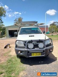 2009 TOYOTA HILUX KUN26R MY09 SR (4X4) White 5 Speed Cab Chassis