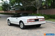 1993 Cadillac Allante Convertible Coupe (STD is Estimated)