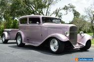 1932 Ford Sedan Custom Chop Top Show Car! Matching Trailer! Vintage A/C