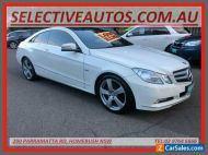 2010 Mercedes-Benz E250 207 CDI Elegance White Automatic 5sp A Coupe