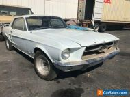 1967 FORD MUSTANG COUPE,MARTI REPORT,4 SPEED MANUAL,DRUM BRAKES,SPORTS SPRINT